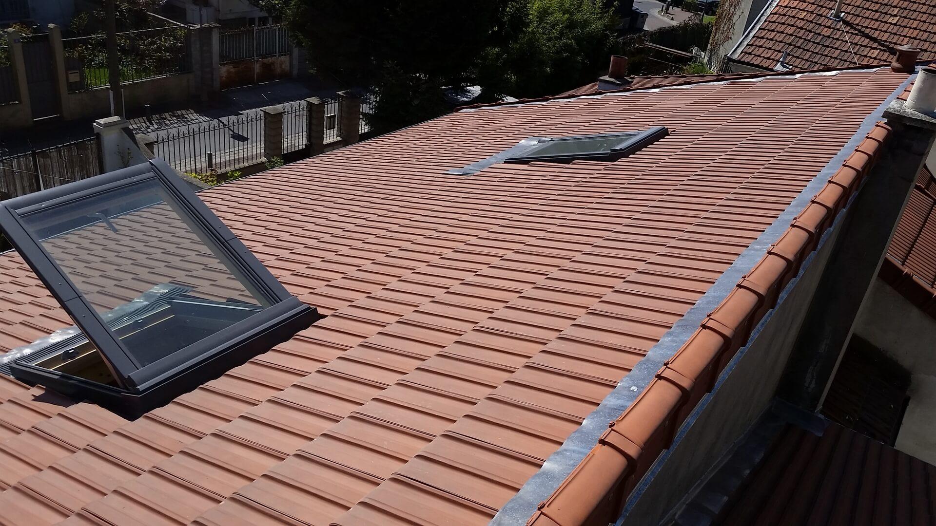 Changement de toiture avec tuile H10 / Couvreur 94 / Ma Belle Toiture