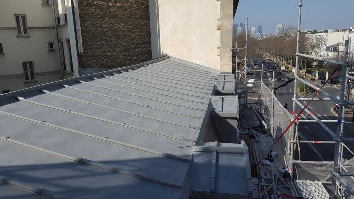 Changement de toiture en Zinc Quartz