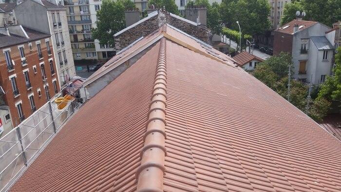 Changement de faitage de toiture
